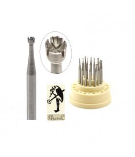TWINCUT Busch 411 CCC concave burs 12 pieces 0,80 – 2,00mm