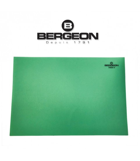 Bergeon 7808-V green mat watchmaker bench top, soft–anti-skid