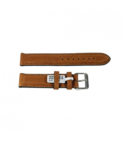 Camel Bison watch brown leather strap 18mm