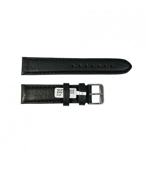 Camel Bison watch black leather strap 20mm