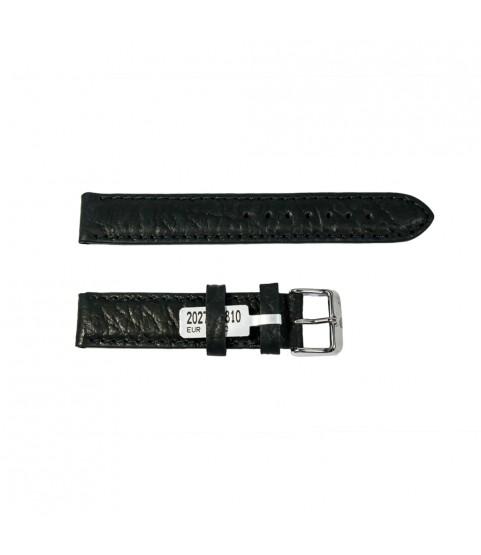 Camel Bison watch black leather strap 18mm
