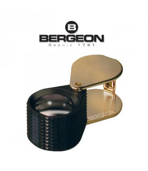 Bergeon 6387 x10 diamond triple loupe for goldsmiths