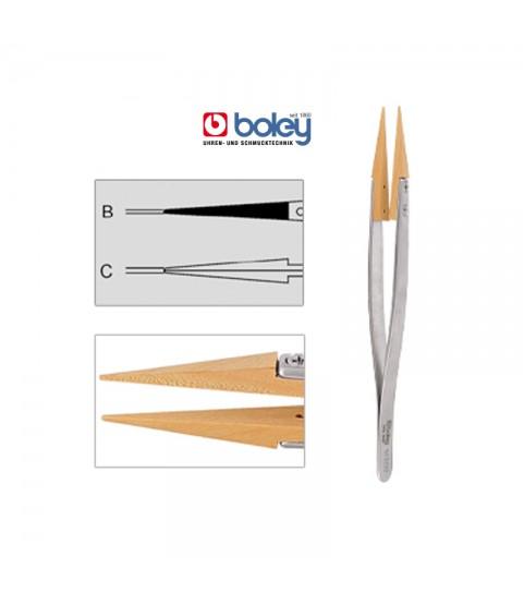 Boley antimagnetic tweezers with wooden tips 130 mm