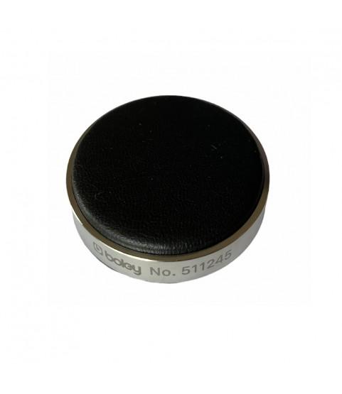 Boley watch black leather casing cushion 80 mm
