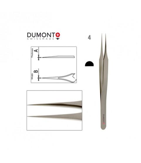 Dumont Dumoxel #4 Tweezers Antimagnetic Steel 110mm Swiss Tool