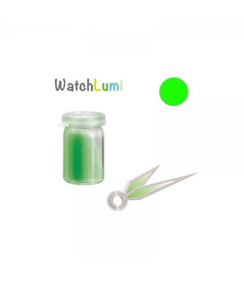Luminous paste Siluma green for watches hands 2gr
