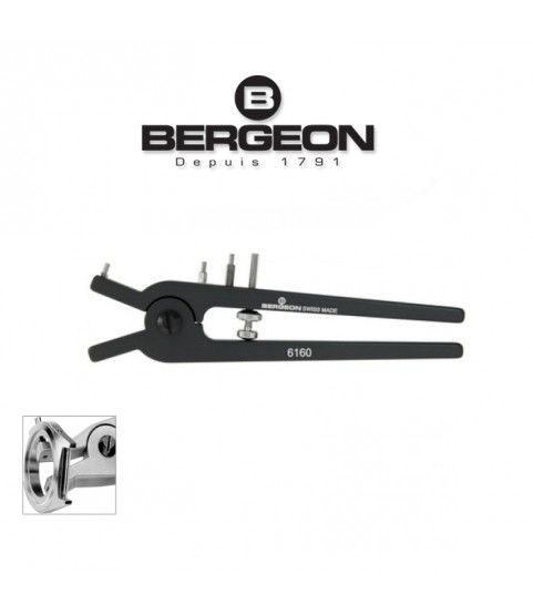 Bergeon 6160 pliers for removing pushers and correctors on chronograph watches
