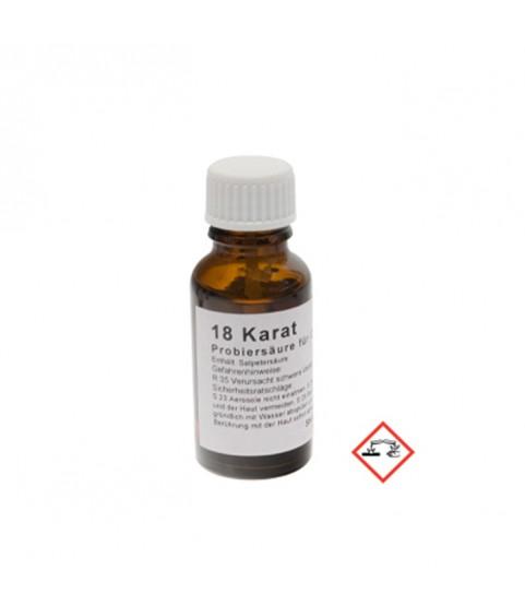 Test Acid for Gold 18k 750 Goldsmith 20ml Germany