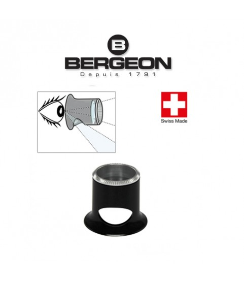 Bergeon 2611-TN 6.7x watchmaker eyeglasses loupe with hole 1.5