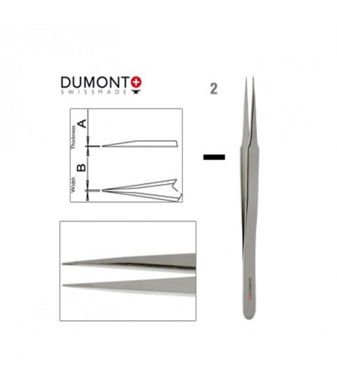 Dumont Dumoxel #2 Tweezers Antimagnetic Steel 120mm Swiss Watchmaker Tool
