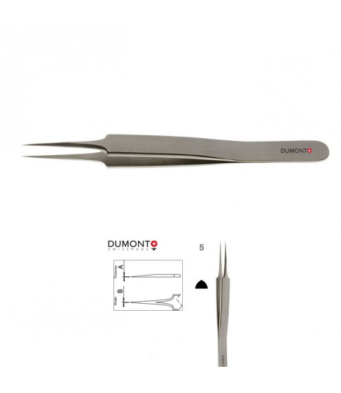 Dumont Dumoxel #5 antimagnetic tweezers 110 mm