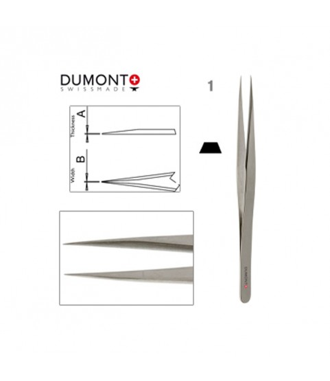 Dumont Dumoxel #1 Tweezers Antimagnetic Steel 120mm Swiss Watchmaker Tool