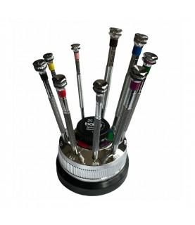 Boley set of 9 screwdrivers on a rotating base