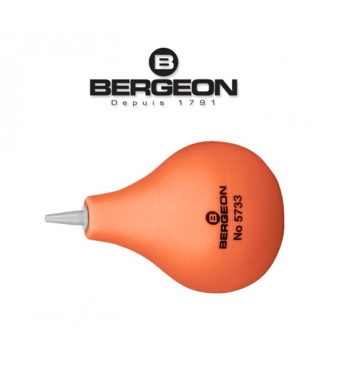 Bergeon 5733 rubber dust blower for watches with PVC nozzle