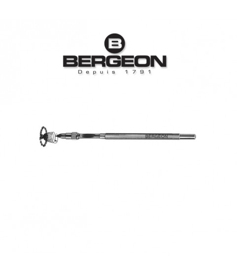 Bergeon 4072 pin vise for holding hairsprings 105 mm