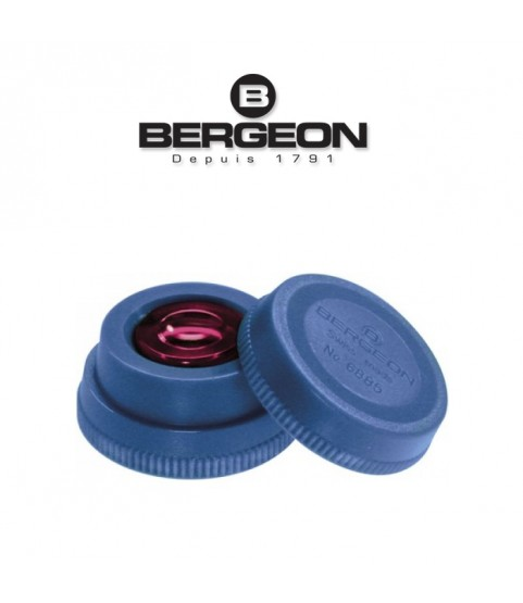 Bergeon 6885-B blue oil cup with red inner glass