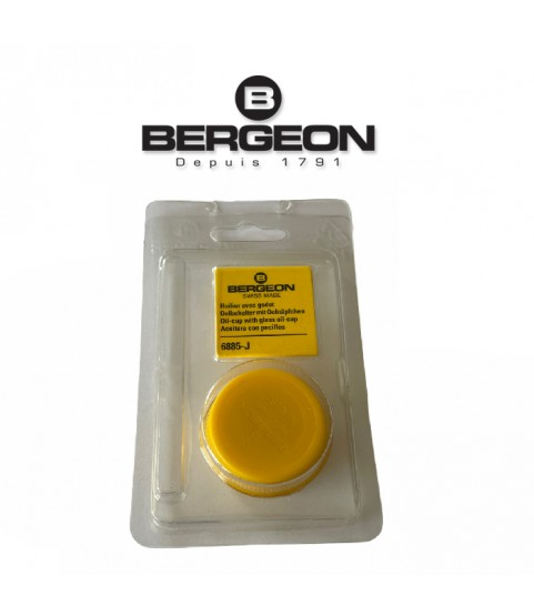 Bergeon 6885-J yellow oil cup with red inner glass