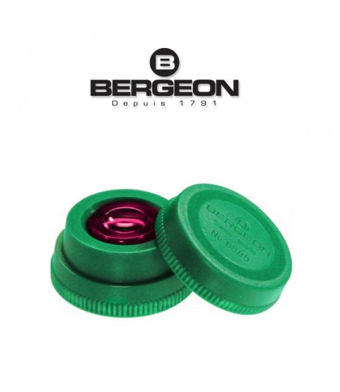 Bergeon 6885-V green oil cup with red inner glass