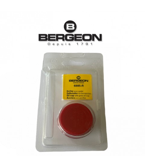 Bergeon 6885-R red oil cup with red inner glass