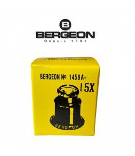 Bergeon 1458-A-15 double lens eyeglass loupe 15x magnification