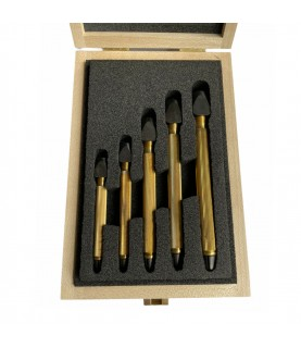 Boley assortment of 5 pin vices with square adjustment