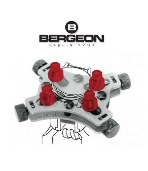 Bergeon 2820 universal vice for waterproof watches capacity Ø44 mm