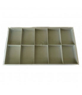 Watch box for storing parts with 10 compartments
