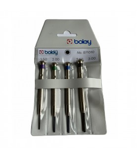 Boley set of 4 screwdrivers with hexagon socket screws