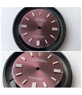 Rolex Oyster Perpetual 114200 red grape dial 34mm