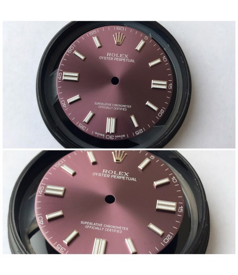 Rolex Oyster Perpetual 11600 red grape dial 28mm