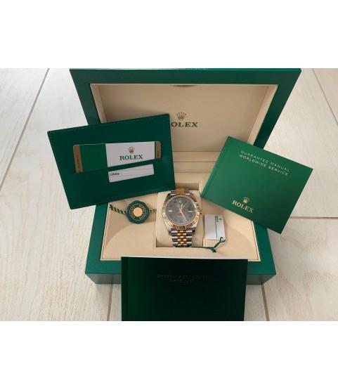 New Rolex Datejust Wimbledon 126333 yellow gold full set 2019