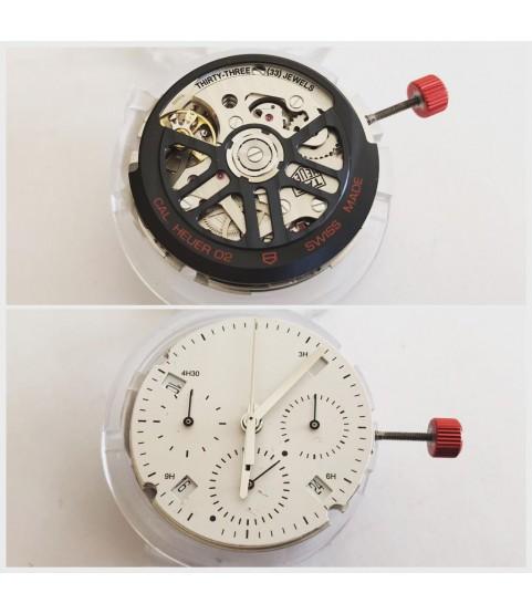 New Tag Heuer chronograph movement caliber 02
