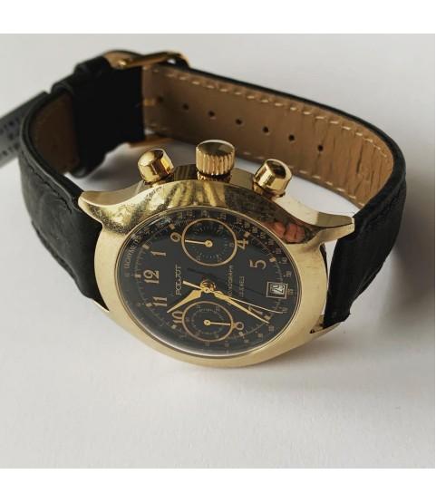 Poljot Chronograph watch 3133 black dial men watch 23 jewels