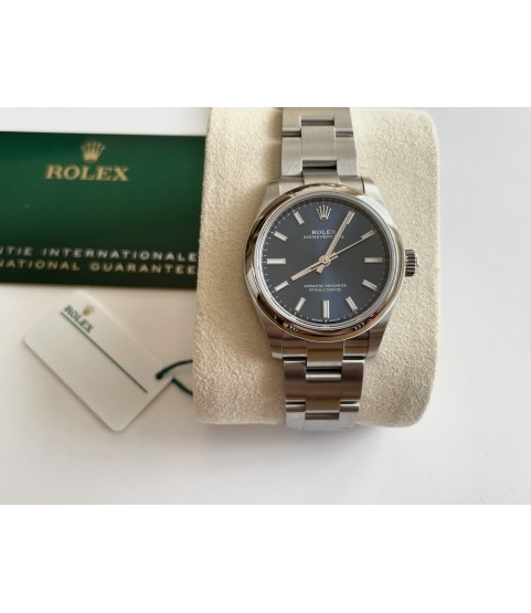 New Rolex Oyster Perpetual 277200 lady watch with blue dial 31mm