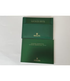 New Rolex Oyster Perpetual booklet set with guarantee manual and leather holder