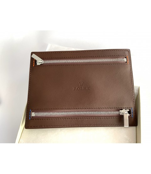 New Rolex multi currency leather wallet with 4 zippers