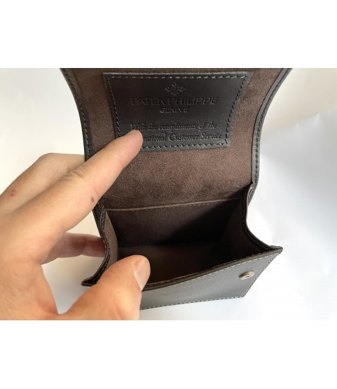 Patek Philippe leather travel watch pouch case