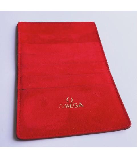 Omega red warranty card holder wallet