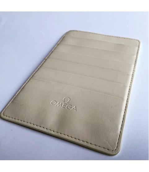 Omega white warranty card holder wallet