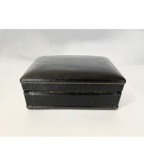 Vintage Piaget black watch box 1970s