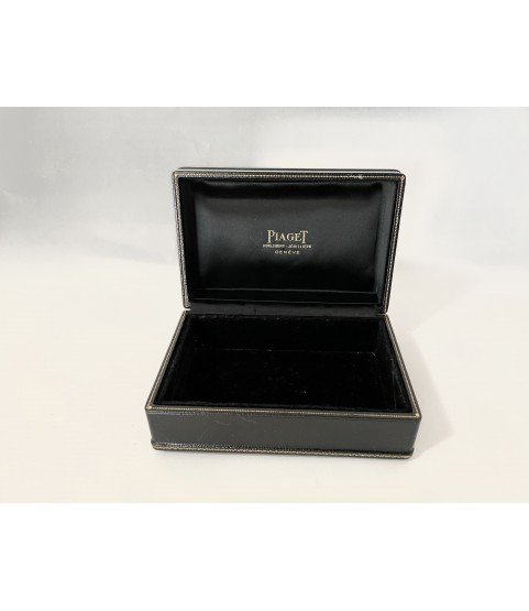 Vintage Piaget black watch box 1970s