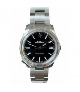 New Rolex Oyster Perpetual 114200 black dial watch 2020