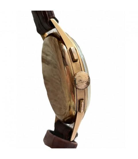 Vintage Almadia 18k gold chronograph men's watch with Landeron 152 38mm