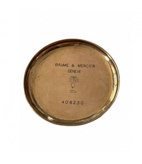 Vintage Baume Mercier 18k solid gold chronograph watch 1950s