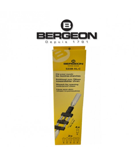 Bergeon 5338-XL-C wrench for opening waterproof watch cases