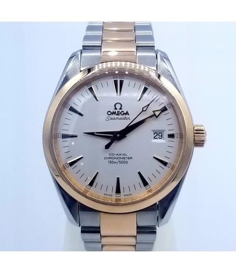 Omega 2303.30.00 Seamaster Aqua Terra Chronometer Gold 18k Watch