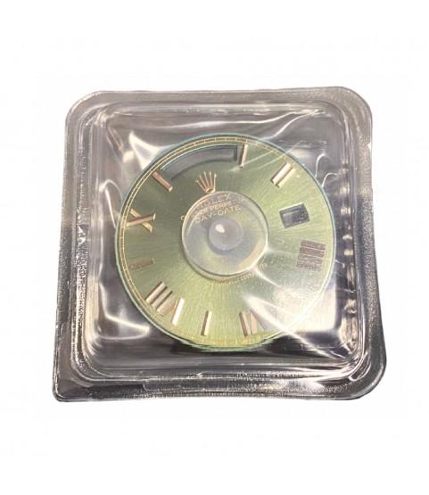 New Rolex Day-Date 228235 green roman dial part