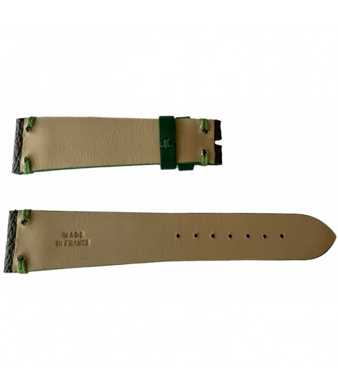 Louis Vuitton monogram leather strap for watches brown & green 20mm