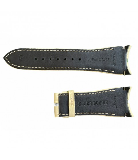 Roger Dubuis leather cream watch strap 25x18 mm