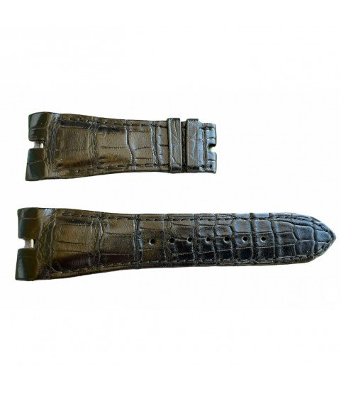 Roger Dubuis leather black watch strap 25x18 mm